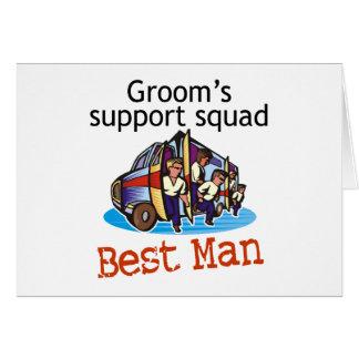 Groom's Squad Best Man Greeting Card