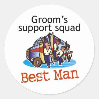 Groom's Squad Best Man Sticker