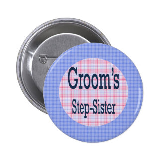 Grooms Step-Sister Button