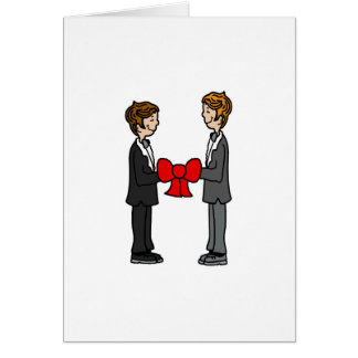 Grooms Tie the Knot Card