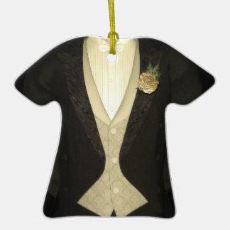 Grooms Tuxedo (ivory) Wedding Ceramic T-Shirt Decoration