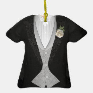 Grooms Tuxedo (white) Wedding Ceramic T-Shirt Decoration