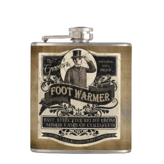 Groom's Vintage Foot Warmer Flasks