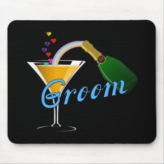 Grooms Wedding Champagne Toast Mouse Pad