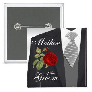 Groom's Wedding Suit Bridal Party 15 Cm Square Badge