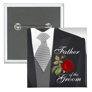 Groom's Wedding Suit Bridal Party 2 15 Cm Square Badge
