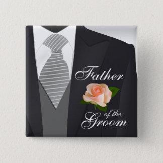 Groom's Wedding Suit Bridal Party 3 15 Cm Square Badge