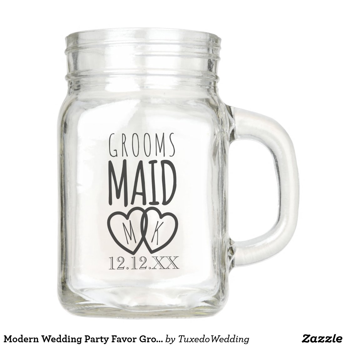 Groomsmaid Wedding Mason Jar