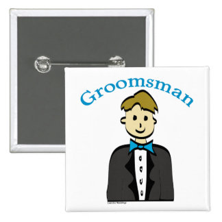 Groomsman 15 Cm Square Badge