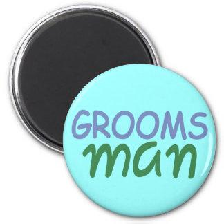Groomsman 6 Cm Round Magnet