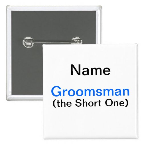 Groomsman Bachelor Party Button