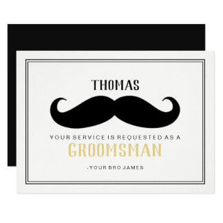 Groomsman Card - Your Stache