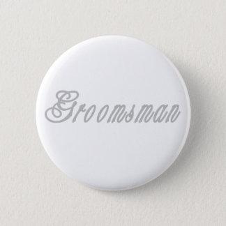 Groomsman Classy Grays 6 Cm Round Badge