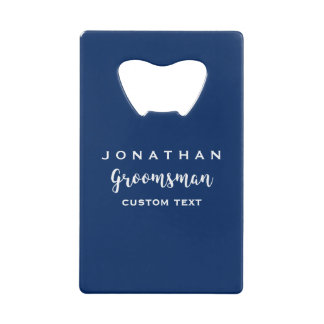 Groomsman Custom Wedding Favor Modern Monogram
