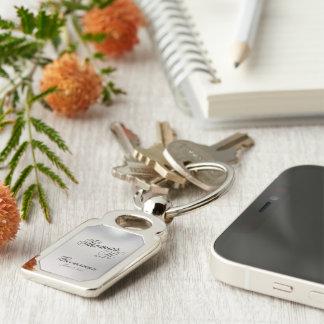 Groomsman Customizable Rectangle Keepsake Keychain Silver-Colored Rectangle Key Ring