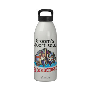 Groomsman Groom s Squad Reusable Water Bottle