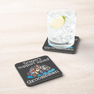 Groomsman Groom's Squad Drink Coasters