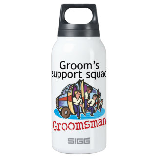 Groomsman Groom's Squad Insulated Water Bottle