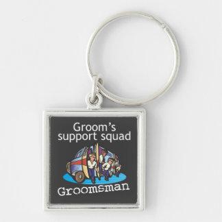 Groomsman Groom's Squad Keychains