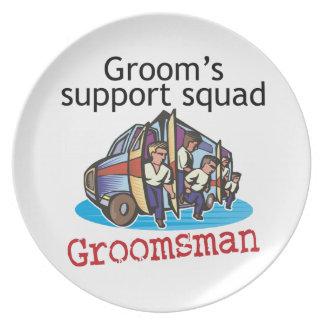 Groomsman Groom's Squad Plates