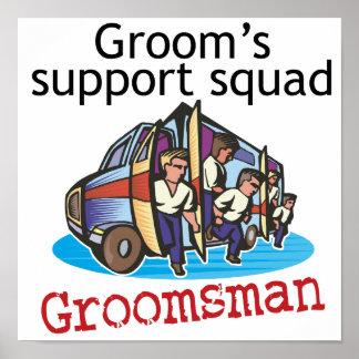 Groomsman Groom's Squad Poster