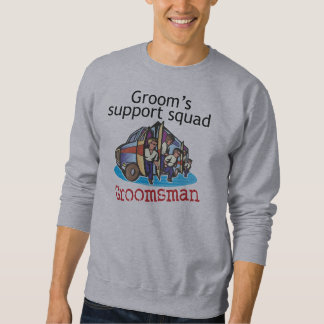 Groomsman Groom's Squad Pull Over Sweatshirts