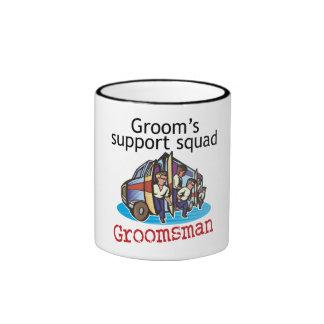 Groomsman Groom's Squad Ringer Mug