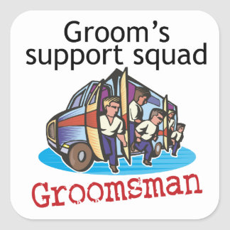 Groomsman Groom's Squad Square Sticker