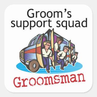 Groomsman Groom's Squad Stickers