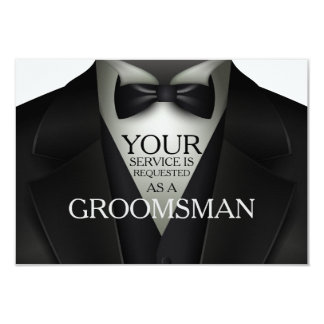 Groomsman Groomsmen Wedding Party Request Card