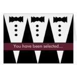 Groomsman Invitation - Funny - Customisable Greeting Cards