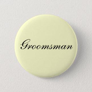 Groomsman Ivory Button