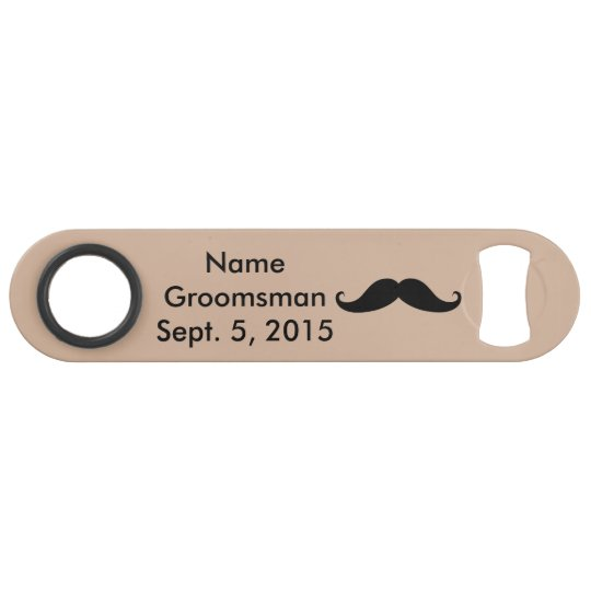 Groomsman Moustache Hat & Suit Speed Bottle Opener