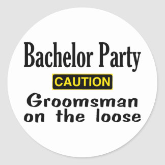 Groomsman On The Loose Round Stickers