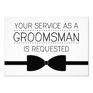 Groomsman Request | Groomsmen 9 Cm X 13 Cm Invitation Card