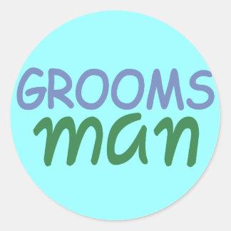 Groomsman Round Sticker
