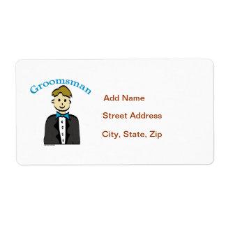 Groomsman Shipping Label