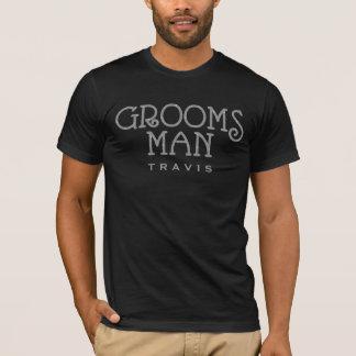 Groomsman Silver Faux Glitter Custom Shirt