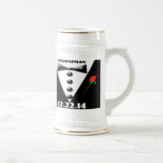 Groomsman Stein - 18 Oz Beer Stein