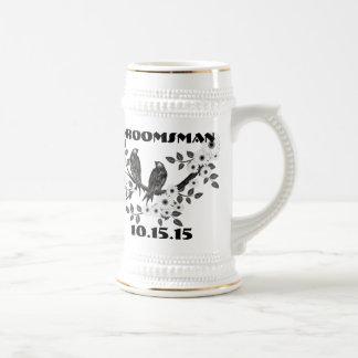 Groomsman Stein -Vintage Birds Beer Steins
