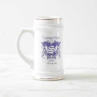 GroomsMan Stein Wedding Vintage Lions Beer Steins