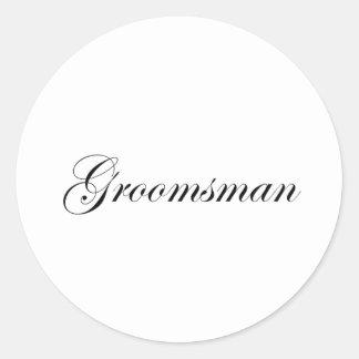 Groomsman Sticker