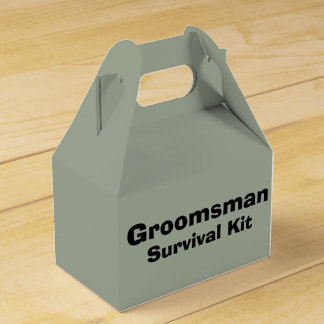 """Groomsman"" Survival Kit Box"
