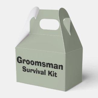 """Groomsman"" Survival Kit Box Favour Boxes"