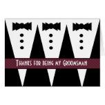 Groomsman Thank You - Three Tuxedos - Customisable