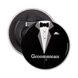 Groomsman Tuxedo Art Bottle Opener