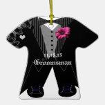 Groomsman Tuxedo Wedding Holiday Ornament