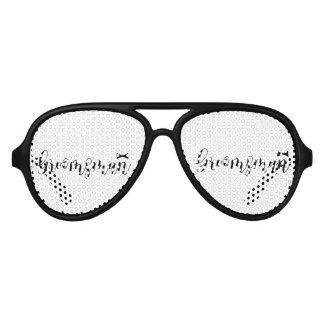 Groomsman-Wedding,-Bachelor-party-tie Aviator Sunglasses