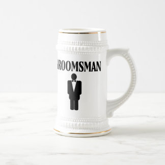 Groomsman Wedding Beer Stein