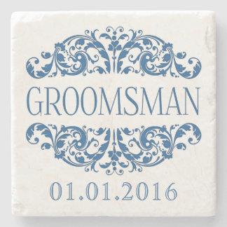Groomsman wedding stone coasters Save the Date
